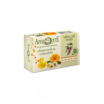 Мыло оливковое с ромашкой и календулой