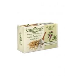 Мыло оливковое с маслом дерева ши и овсяными хлопьями (Z-75)